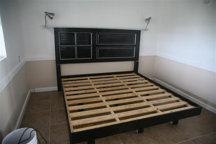 Every miles a memory for How to make a headboard out of a door